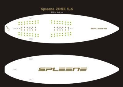 Kiteboard Zone 5'6 von Spleene Kiteboarding