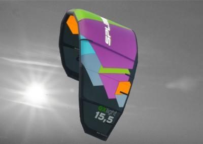 Kite QX light für Leichtwind von Spleene Kiteboarding