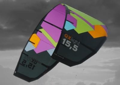 Leichtwind Kite QX light von Spleene Kiteboarding