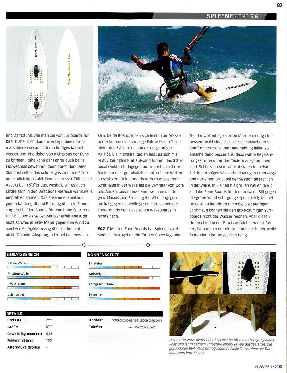 Kitemagazine Waveboard Test Zone 5'6 by Spleene Kiteboarding