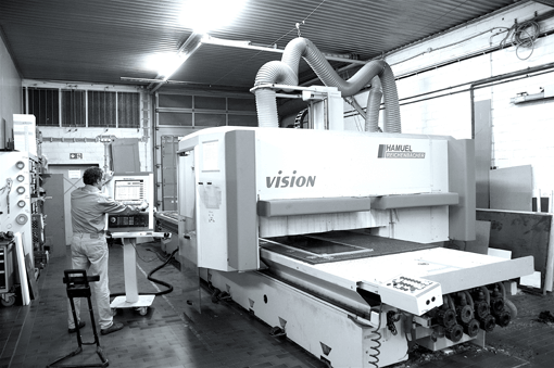 CNC Machine in Spleene Kiteboarding factory