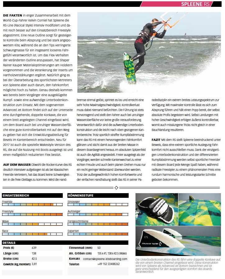 Kitelife Boardtest Carbon Pro Session 54 von Spleene Kiteboarding