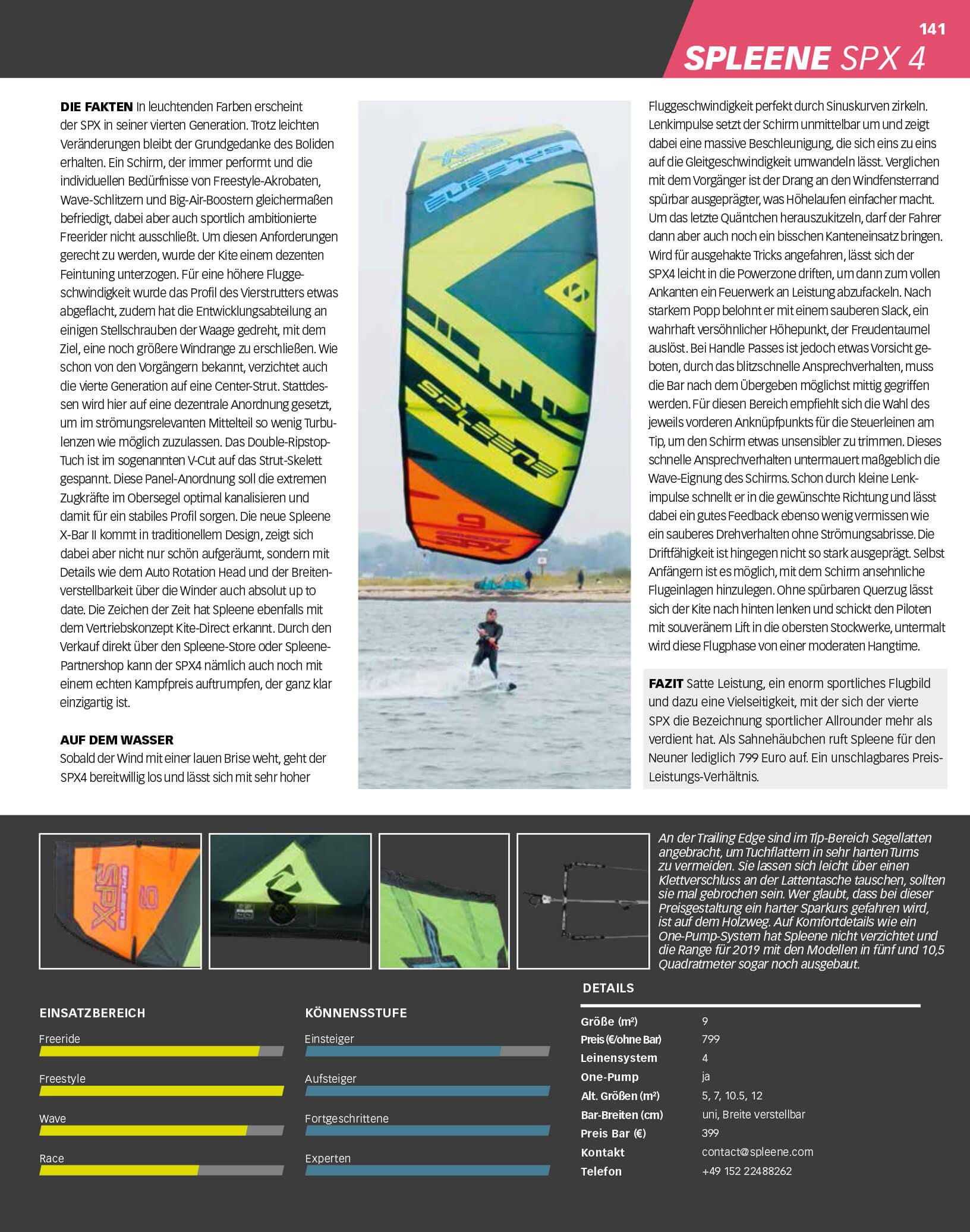 Kitelife Kitetest SPX-IV 9m - Spleene Kiteboarding