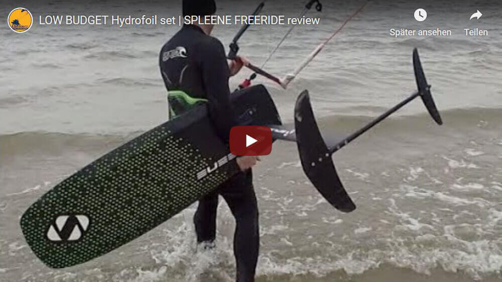 SPLEENE Kiteboarding - Foil test at Kitefinder.TV